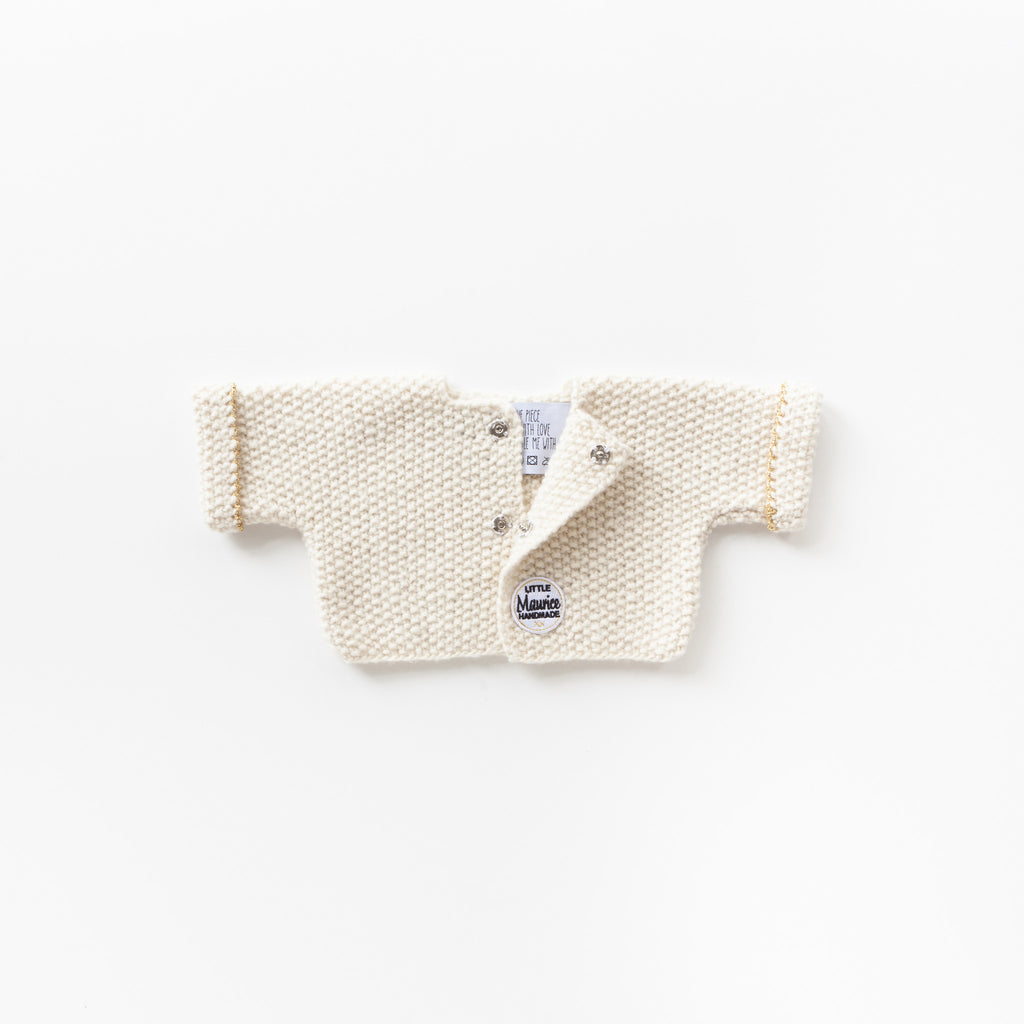 Little Maurice cardigan off white