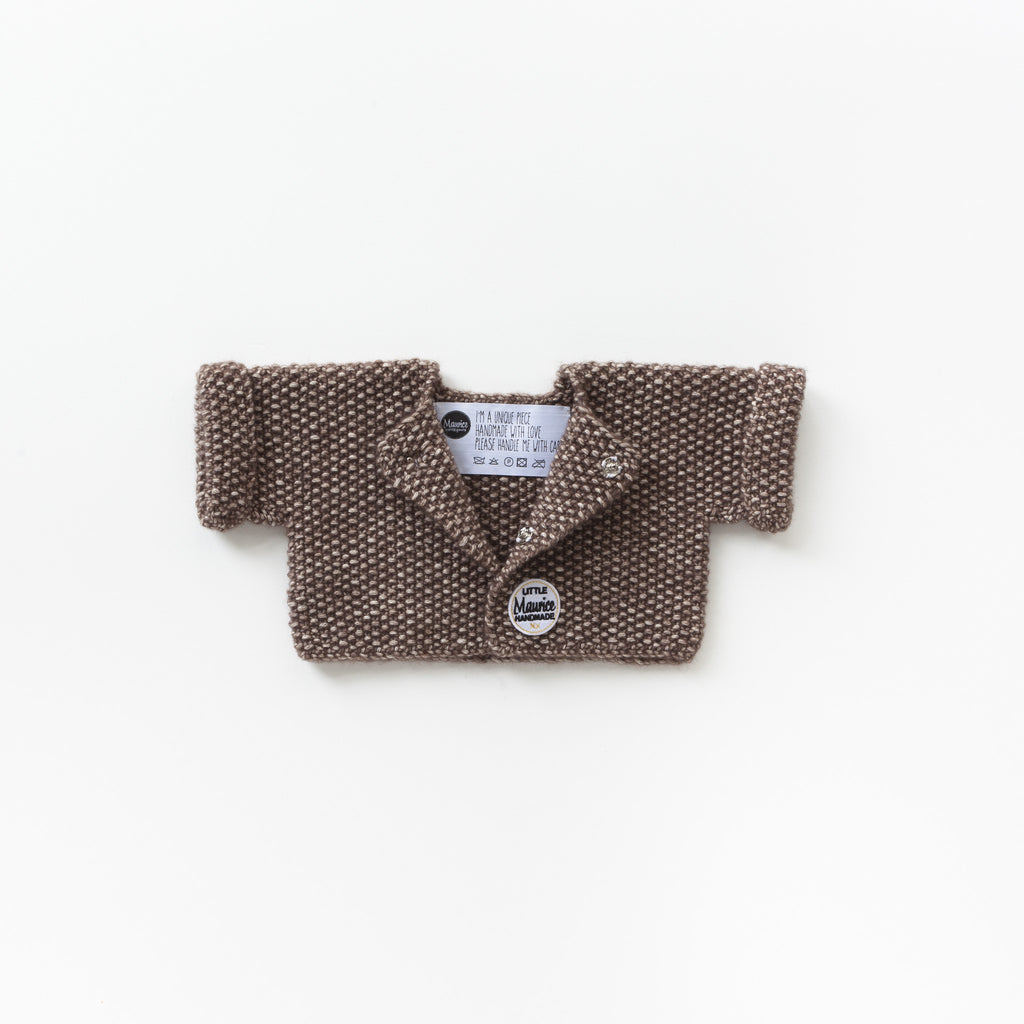 Little Maurice cardigan chocolate brown