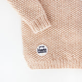Little Maurice V-neck pull-over rose and golden details
