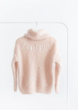 Handmade turtle neck pull-over // soft rose