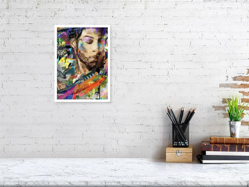 """Because An Angel Told Me So"" - A Portrait Of Prince. - Fine art print by Jasha Bay"