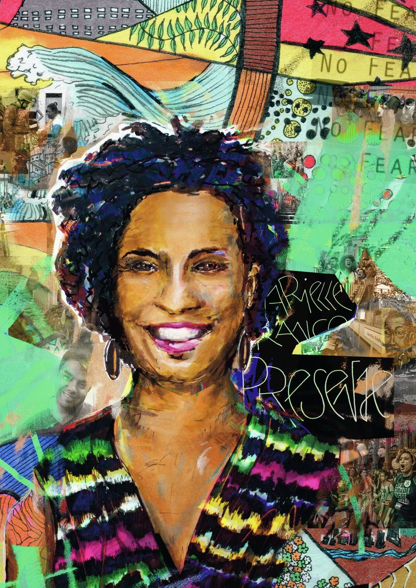 No Fear. Marielle Franco Presente. - Fine art print by Jasha Bay