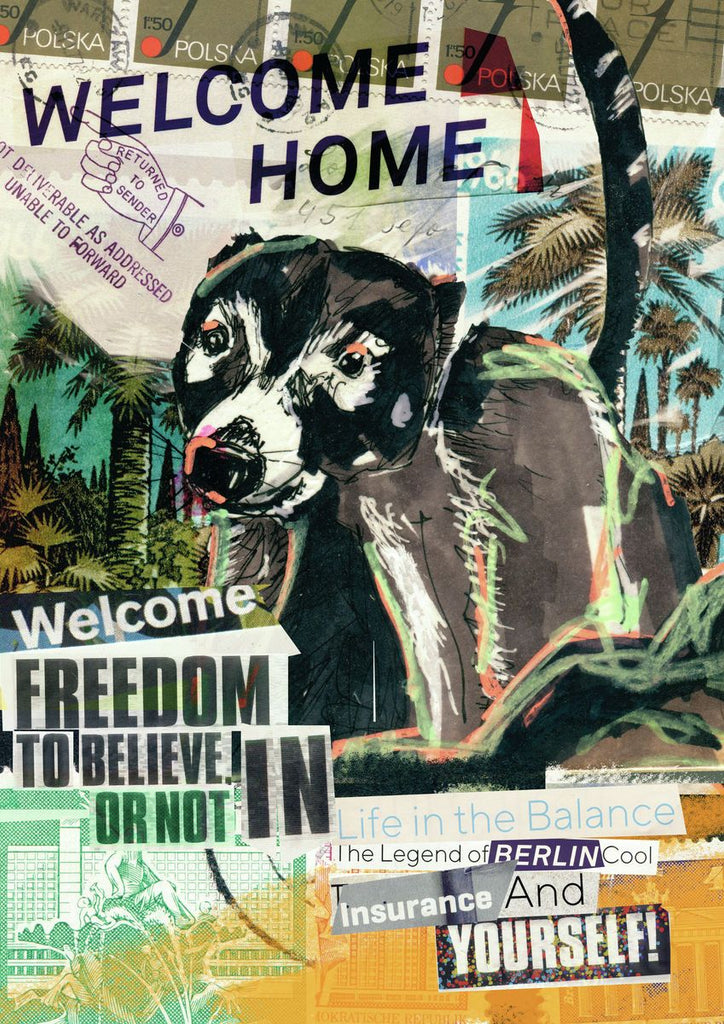 Welcome Home, Welcome Freedom, Pizote. - Fine art print by Jasha Bay