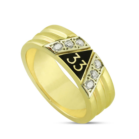 33rd Degree Ring w/6 Diamonds
