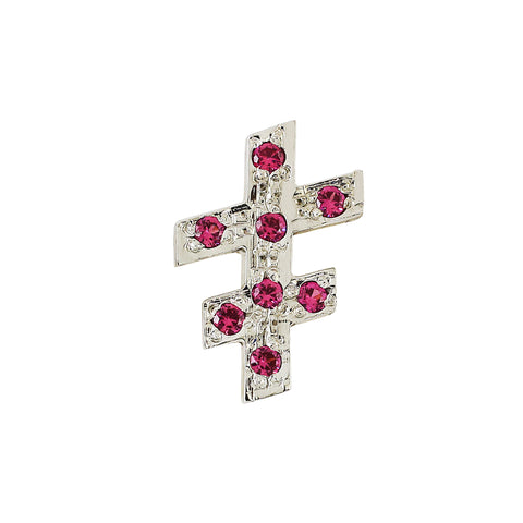33rd Degree Double Cross Lapel Pin