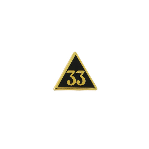 33rd Degree Triangle Lapel Pin