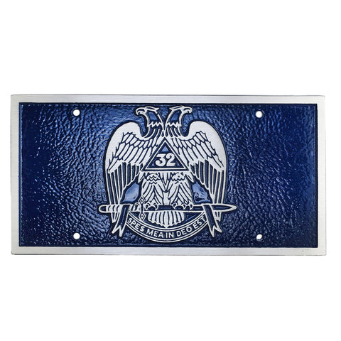 Scottish Rite License Plate