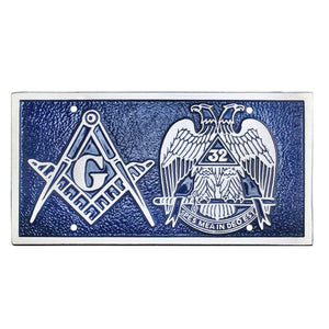 Blue Lodge and Scottish Rite License Plate