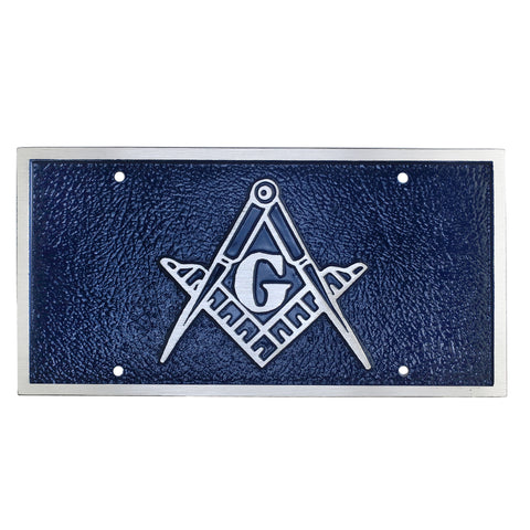 Blue Lodge License Plate
