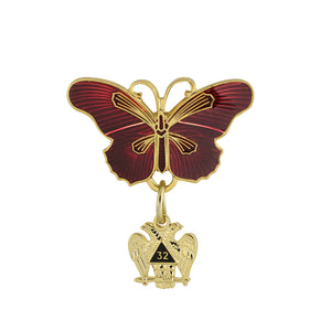 Knight of The Double Eagle Ladies Butterfly Pin