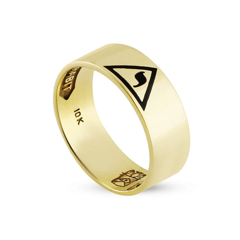 "14th Degree Flat Emblem 5/16"" Ring"