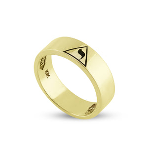 14th Degree Flat Emblem 1/4 Ring