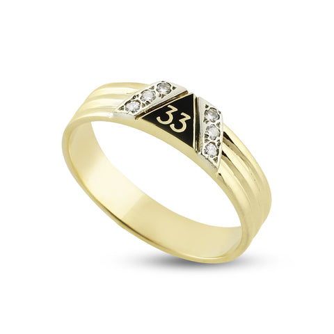 33rd Degree Lady's Mini Ring w/6 Diamonds