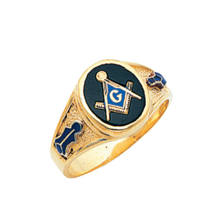 Blue Lodge Ring - MAS60341BL