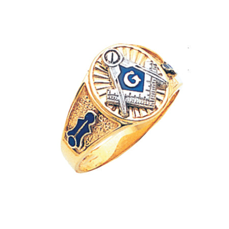 Blue Lodge Ring - MAS61381BL