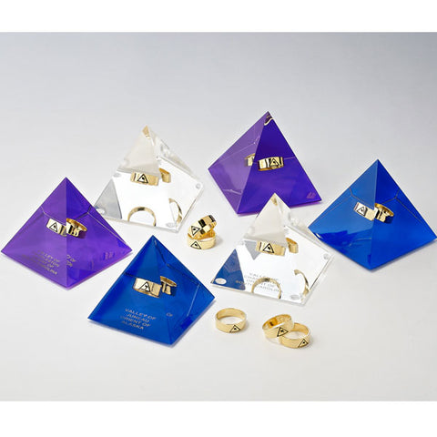 14th Degree Lucite Pyramids