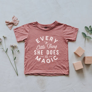 Mauve Every Little Thing She Does Is Magic Kids Tee