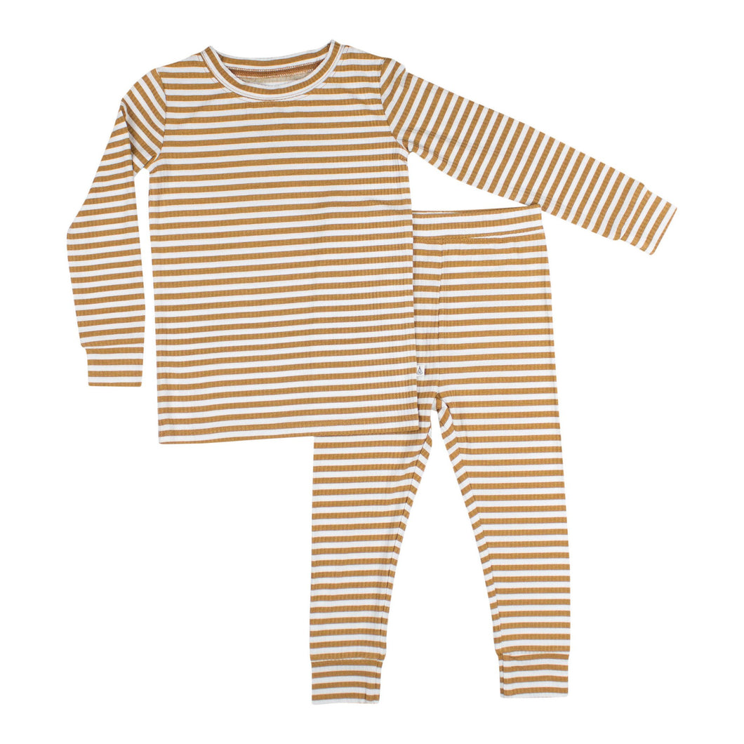 Stripe Ribbed Two-Piece Set