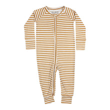 Load image into Gallery viewer, Stripe Ribbed Zip Romper