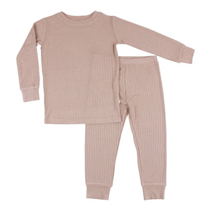 Rosewood Ribbed Two-Piece Set
