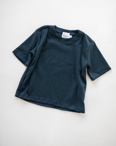 Terry Towelling Tee- Navy