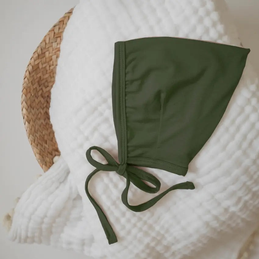 Bamboo Pixie Bonnet- Olive