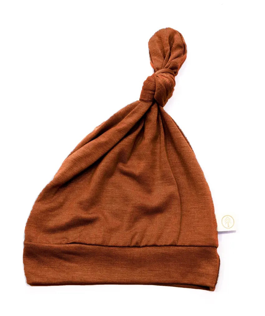 Bamboo Baby Top Knot Hat- Rust