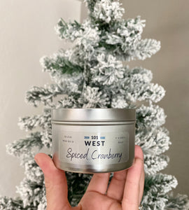 8oz Soy Candle- Spiced Cranberry