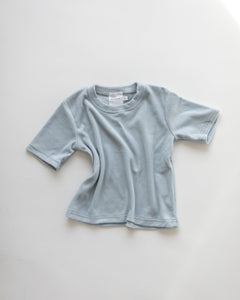 Terry Towelling Tee | Sea Blue