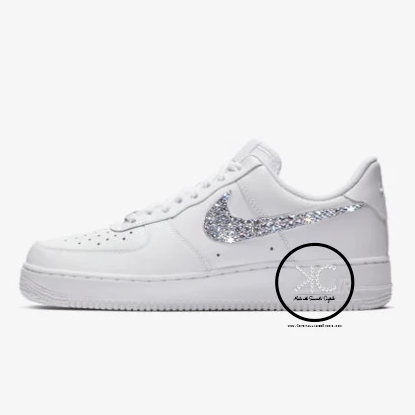 Swarovski Nike Air Force 1 Women's White Made with Swarovski Crystals