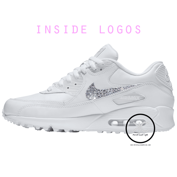 Nike Air Max 90 Youth Women's Made with Swarovski Crystals.