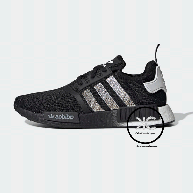 Bling Adidas Nmd R1 Women's Shoes Made With Swarovski Crystals.