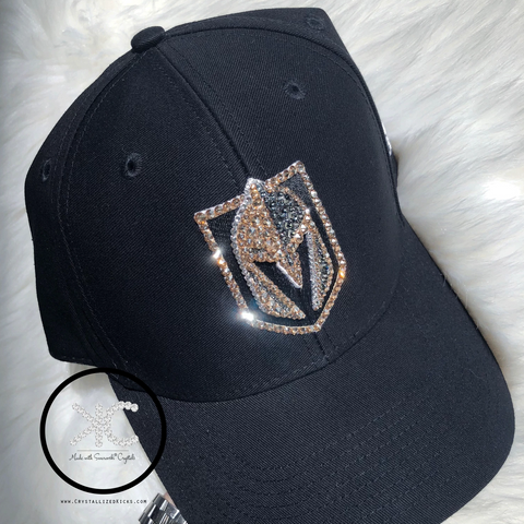 Swarovski Vegas Knights Hat Made with Swarovski Crystals