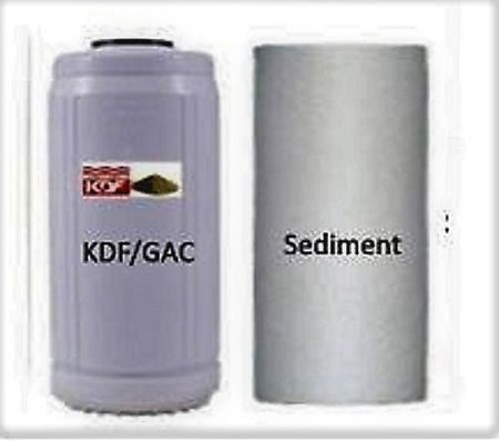 "Water Filter Replacement Set Big Blue KDF85/GAC - Sediment Cartridge 10"" x 4.5"""