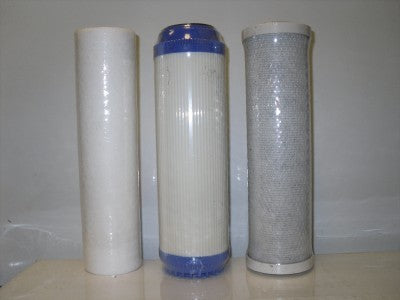Titan Water Filters(3pc) Sediment Filter, KDF55/GAC Filter, Carbon Block Filter