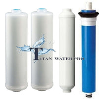 RO Inline Water Filter/Membrane 100 GPD  Replacement Set - 4 PC
