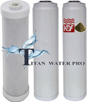 Carbon Block/Flouride Removal/KDF Multi media Water Filters (3 PC) Set