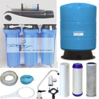 RO Reverse Osmosis Water Filter System w/ Booster Pump- 400 GPD,- 20 Gallon Tank