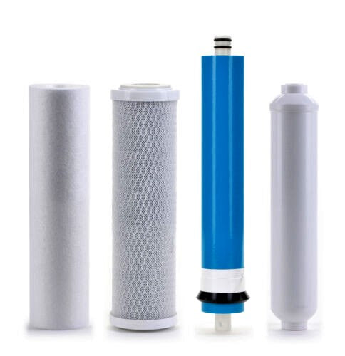 Reverse Osmosis Replacement Filter Set RO Cartridges 4 stage w/ 50 GPD Membrane