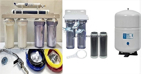 Reverse Osmosis 6 Stages RO & 2 Stages DI Add on Stages-6 Gallon Tank- Pentair Gro-EN75 Membrane