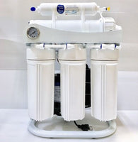 RO Light Commercial Reverse Osmosis Water Filter System 200 GPD Booster Pump