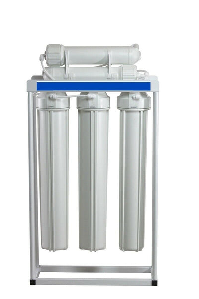 "RO WATER 400 GPD LIGHT COMMERCIAL LINE-PRESSURE RO SYSTEM WITH 20"" PRE-FILTERS"
