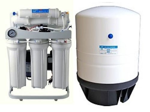 RO Light Commercial Reverse Osmosis Water Filter System 150 GPD-14 G Tank-B Pump
