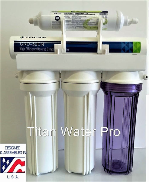 RO-Reverse Osmosis Water Filtration System 1:1 Ratio Pentair GR-EN50 Hi Recovery