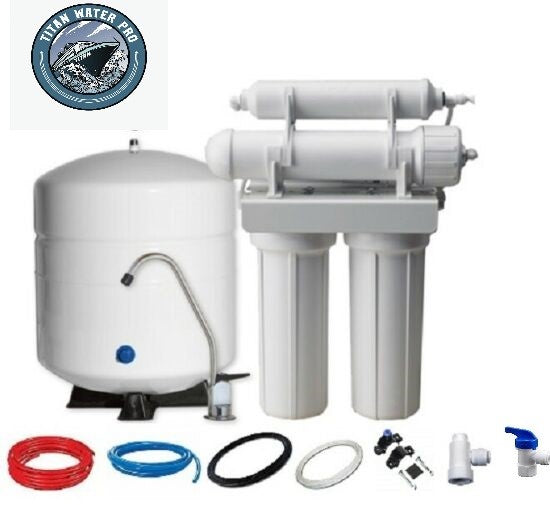 RO DRINKING WATER RO REVERSE OSMOSIS WATER FILTER SYSTEMS TFC-1812-50 4 Stage - 6 G Tank