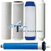 REVERSE OSMOSIS RO 5 FILTERS/MEMBRANE REPLACEMENT SET 50 GPD - 5 PCS SET w/catalytic carbon