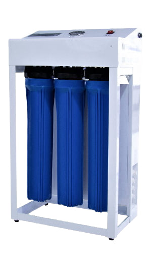 Reverse Osmosis Water Filtration System 1000 GPD Dual Booster Pump Auto Flush RO