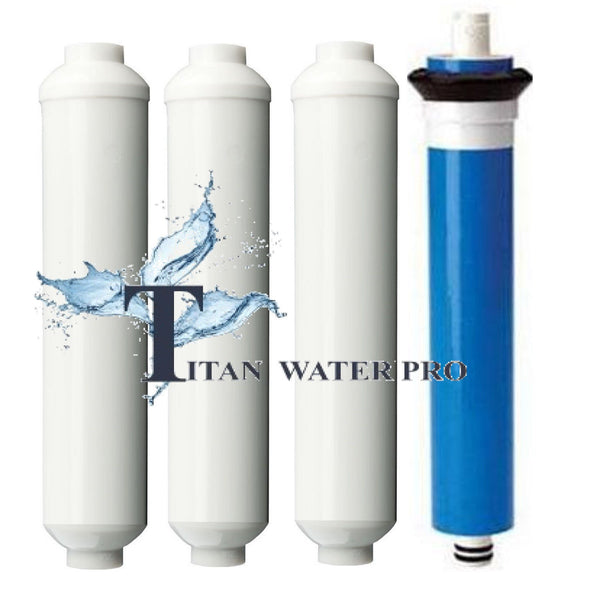 Reverse Osmosis RO Filters & RO Membrane 50 GPD 4 PC Set Mini RO Water Filters