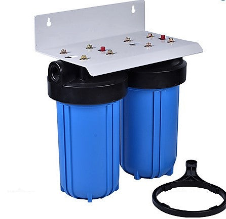 Whole House Big Blue Water Filter System Sediment & KDF85/GAC - Well Water
