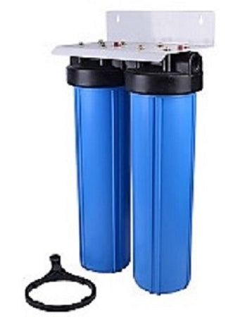 DUAL BIG BLUE HOUSING WATER KDF85/GAC & SEDIMENT FILTER ~ Well Water Iron/H2S